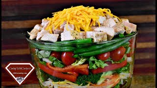 The BEST Layered Chicken Salad Recipe – GREAT SUMMER TIME RECIPE EAT FRESH!!  Cooking With Carolyn