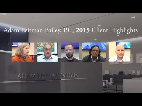 Adam Leitman Bailey, P.C. 2015 Client Highlights testimonial video thumbnail