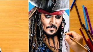 Drawing Johnny Depp As Captain Jack Sparrow