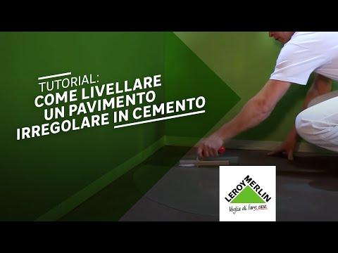Come livellare un pavimento in cemento - tutorial Leroy Merlin