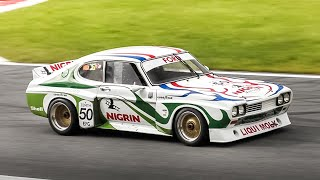 1974 Ford Capri RS 3100 Group 2 Car: Warm Up & Cosworth GAA V6 Sound in action!
