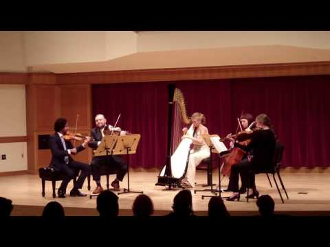 Becca Schaefer performing Concertstück by Gabriel Pierne with string quartet accompaniment at her senior recital