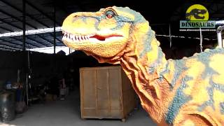 preview picture of video 'Head Movements Of Our Dinosaur Costume'