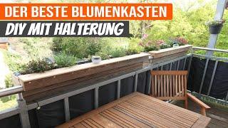 Große Blumenkästen für Balkon mit Befestigung // Aus Holz selber bauen