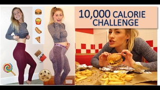 10,000 Calorie Challenge | Girl VS Food | EPIC cheat day!!!