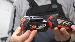 Bosch Professional 18V Akkus im Test! - Original oder Nachbau - Wer hält länger? Praxistest