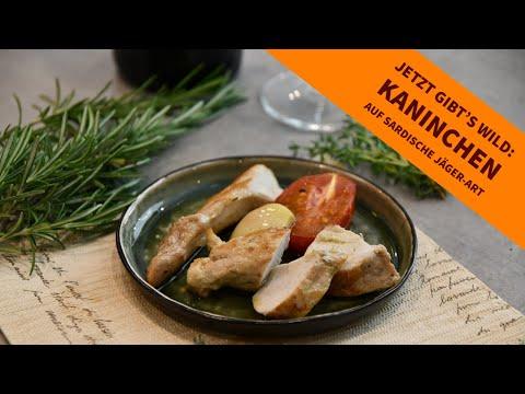 wildrezept: Jetzt gibt's Wild: Kaninchen auf sardische Jäger-Art − Urlaubsküche pur mit Rezept und Kochvideo