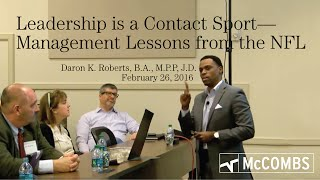 Leadership is a Contact Sport: Management Lessons from the NFL