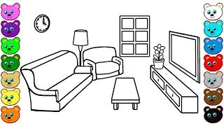 Living Room | Coloring Pages for Children
