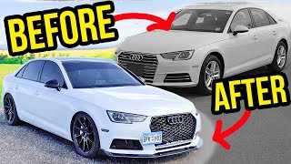 Building an Audi A4 B9 in 10 minutes like THROTL!