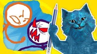 НАРИСОВАЛИ СТИКМЕНА и он ОЖИЛ Draw a Stickman: EPIC 2 говорящий кот КОТЁНОК ЛАЙК