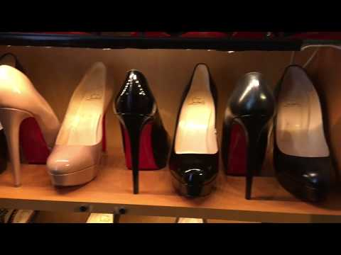 My Illuminated Designer Heels Shoe Collection Display Cabinet | Louboutin, YSL, Miu Miu..