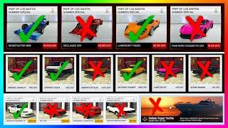GTA 5 Online Los Santos Summer Special DLC Update - BUYER BEWARE! Cars, Vehicles & MORE To NOT BUY!
