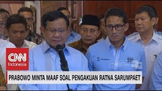 Download Video Prabowo Subianto Minta Maaf Sudah Termakan Dusta Ratna Sarumpaet MP3 3GP MP4