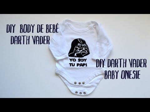 DIY body de bebé Darth Vader - DIY Darth Vader baby onesie