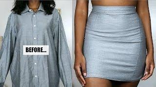 DIY Skirt From Shirt | Mens Shirt Refashion