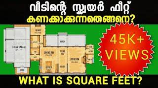 How to calculate area of a house in square feet? | ABDU