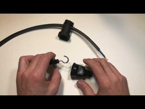 Gancho para cable plano de guirnalda