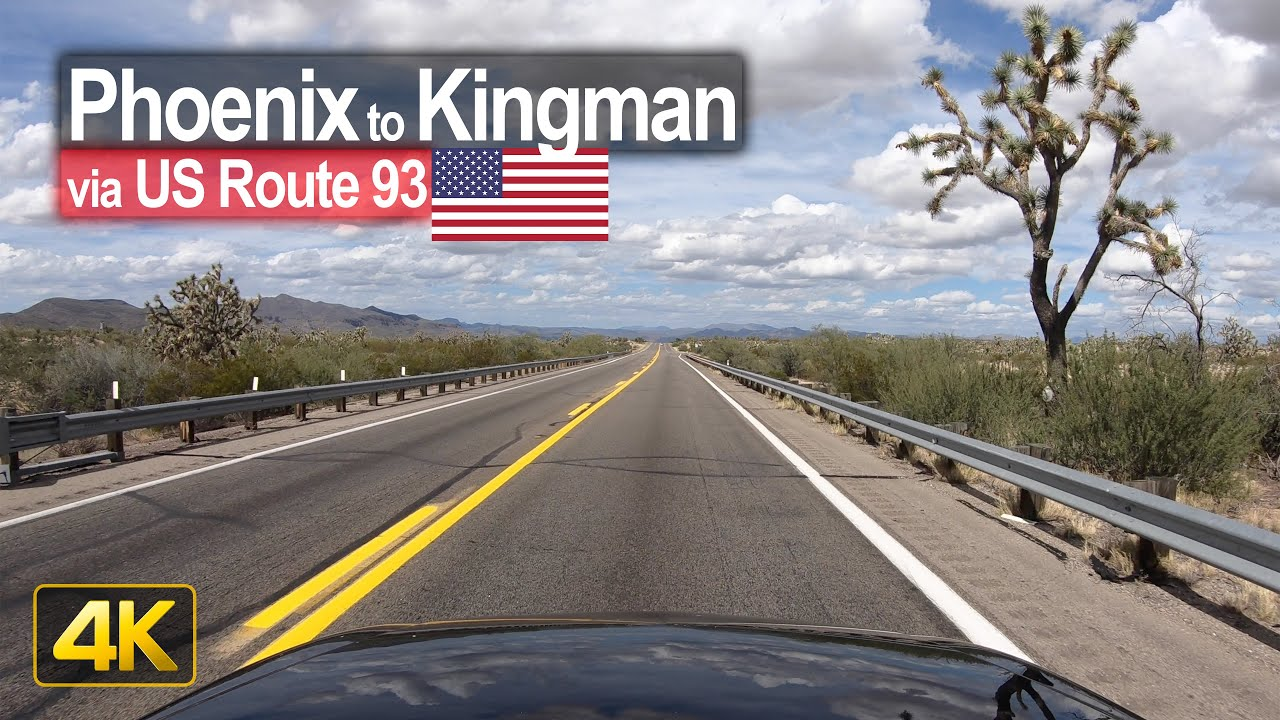 USA Road Trip – Phoenix AZ to Kingman AZ in 4K