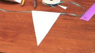 How To Make Flag Banners For Birthdays With Scrapbook Papers : DIY Crafts
