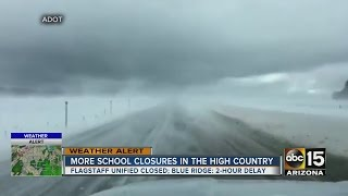 Winter storm brings rain to the Valley and snow to the high country