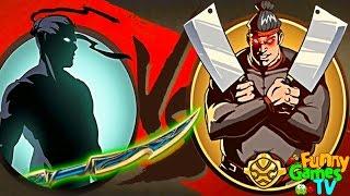 МЯСОРУБКА МЯСНИКА мультик для детей игра Shadow Fight 2 бой с тенью