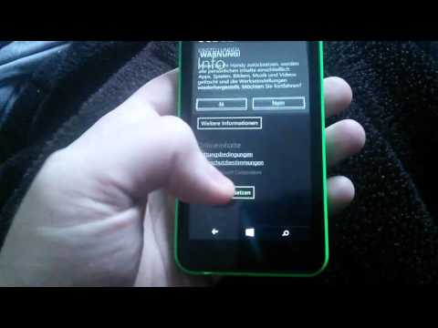 Nokia Lumia 530 zurücksetzen auf Werkseinstellung [ Windows Phone Deutsch / German ]