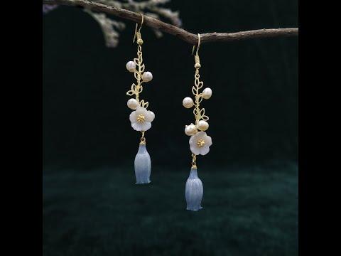 Flower Fairy - Real Flower Dangle Earrings