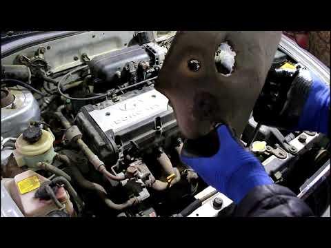 Фото к видео: Двигатель троит детонирует и не развивает мощности Hyundai Accent 1,5 Хендай Акцент 2006 года Тагаз