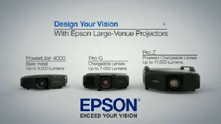 Discover how you can project any shape or any surface with Epson large venue projectors