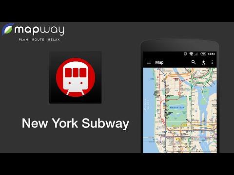 Video of New York MTA Subway Map (NYC)
