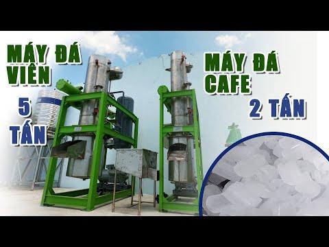 Cung cấp 2 máy làm đá, đá viên 5 tấn và đá cà phê 2 tấn đến Quảng Nam