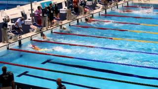 preview picture of video 'London 2012 Paralympic Swimming - Mens's 50m Freestyle - S11 - HEAT 2 -- African Record'