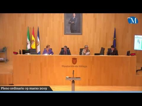 Pleno ordinario de la Diputación correspondiente al mes de marzo