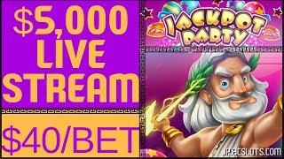 🔴LIVE in VEGAS 🎰 $5,000 on ZEUS II @ $40/Spin ✦ Jackpot Party ✦ with Brian Christopher #AD