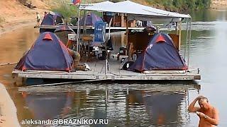 Особенности национальной рыбалки - Сплав по Дону на плотах 2014