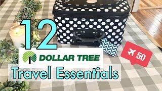 12 Dollar Tree Travel Essentials, Packing, and Organization - Cheap Travel Organization Ideas!