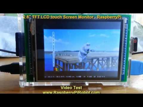 TFT 2.8″ LCD RaspberryPi 240×320 ILI9325C touch screen VIDEO TEST