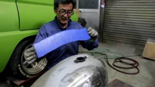 Dent fix the motorcycle Fuel tank #1  by ART OF WORK