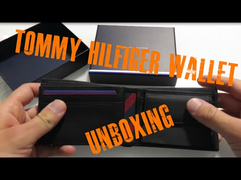 Tommy Hilfiger wallet JOHNSON MINI CC FLAP COIN POCKET AM0AM00662 unboxing
