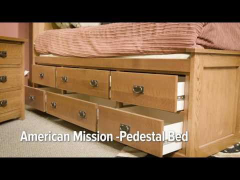 This Handsome Arts And Crafts American Mission II Pedestal Bed Is Made In  The USA. It Focuses On Comfort While Indulging Your Need For Style With  Minimal ...