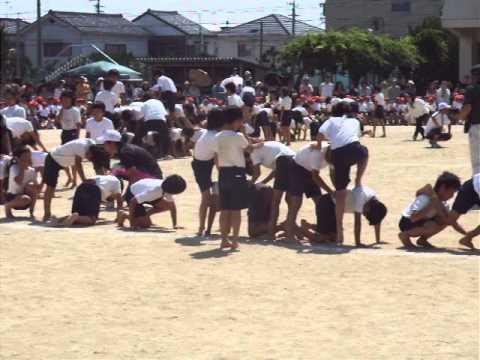 名古屋市守山区白沢小学校運動会「組み立て体操?」2013.5.25