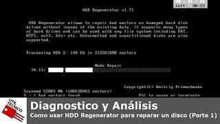 Como Usar HDD Regenerator Para Reparar Un Disco (Parte 1)