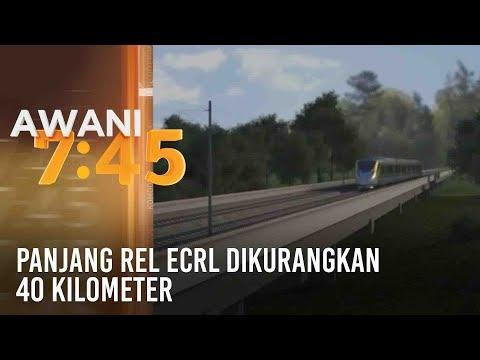 Panjang rel ECRL dikurangkan 40 kilometer