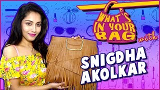 Snigdha Akolkar's Handbag Secret Revealed | What's In Your Bag | TellyMasala