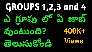 group1, group2, group3, group4 posts || list of groups posts in public service commission