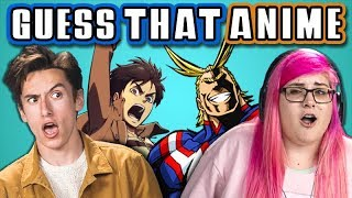 GUESS THAT ANIME CHALLENGE with TEENS & COLLEGE KIDS (React) - Video Youtube