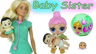 Lol Surprise Missing Lil Little Sister - Color Changing Baby Blind Bags with Doctor Barbie Doll
