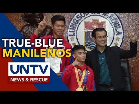 [UNTV]  Manila City gov't awards P500,000 each to Olympic qualifiers Ej Obiena and Carlos Yulo