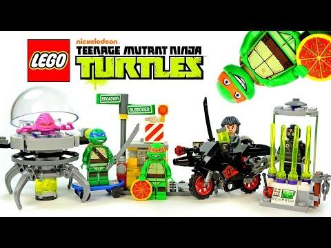 Vidéo LEGO Tortues Ninja 79100 : L'évasion du laboratoire de Kraang